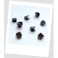 Концевик-зажим для лент металлический, 6х8 мм, цвет медный. Упаковка - 262 шт! (id:270055)