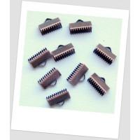 Концевик-зажим для лент металлический, 13х8 мм, цвет медный. Упаковка - 292 шт! (id:270072)