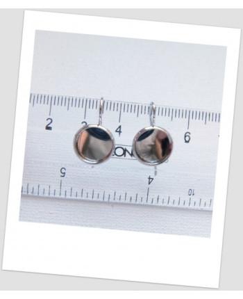Швензы металлические стального цвета с сеттингом, 20 мм х 12 мм, цена за пару (id:140019)