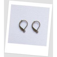 Швензы металлические, бронзового цвета, 16x10 мм,  упаковка - 10 пар (id:400015)