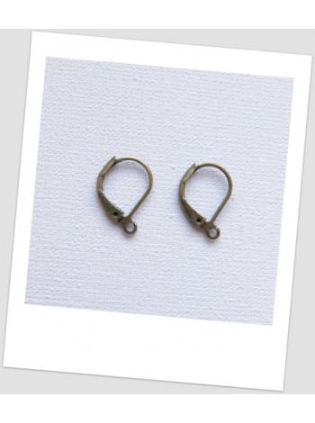 Швензы металлические, бронзового цвета, 16x10 мм, упаковка - 10 пар.