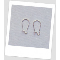 Швензы металлические 8,5 мм х 15 мм, цвет: серебряный, (маленькие) Цена за упаковку- 20 пар (id:400017)