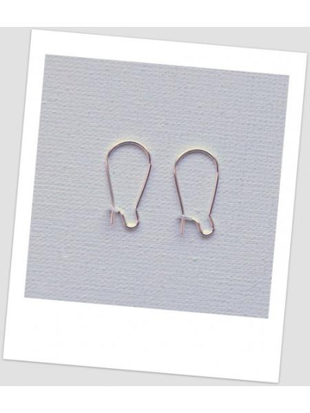 Швензы металлические 8,5 мм х 15 мм, цвет: серебряный, (маленькие) . Цена за упаковку- 20 пар (id:400017)