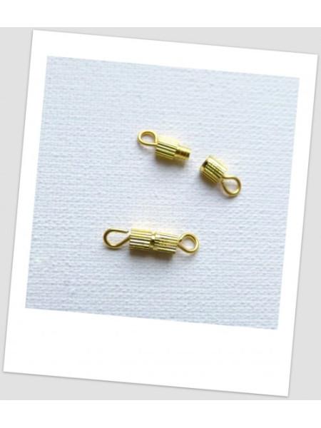 Застежка бижутерная миниатюрная, цвет золотой, 7х3 мм, упаковка - 3 шт. (id:410036)
