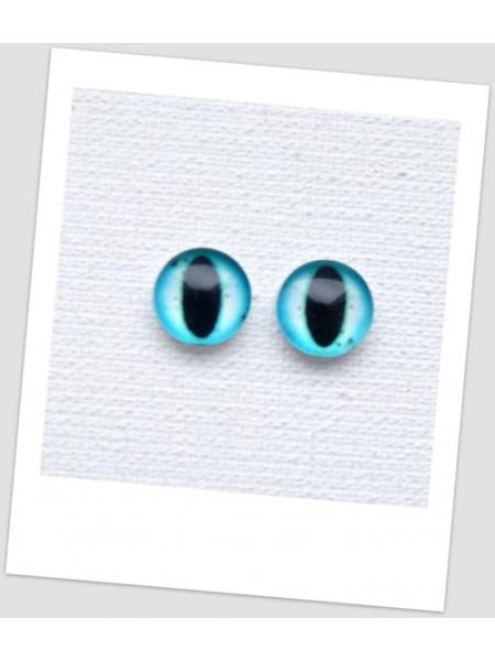 Глазки стеклянные для кукол и игрушек (пара), 8 мм (id:77001)