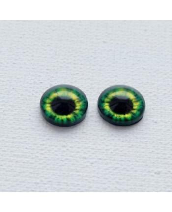 Глазки стеклянные для кукол и игрушек (пара), 14 мм (id:77121)
