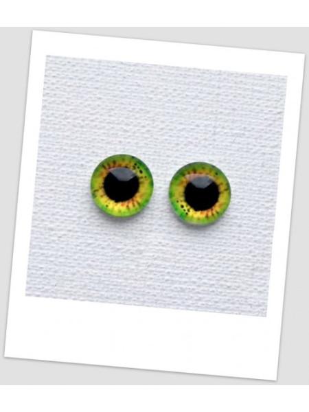 Глазки стеклянные для кукол и игрушек (пара), 8 мм (id:77002)