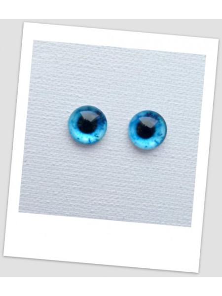 Глазки стеклянные для кукол и игрушек (пара), 10 мм (id:77297)