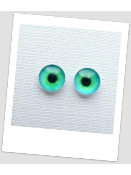 Глазки стеклянные для кукол и игрушек (пара), 8 мм (id:77010)