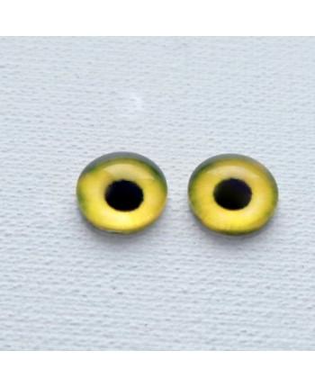 Глазки стеклянные для кукол и игрушек (пара), 14 мм (id:77126)