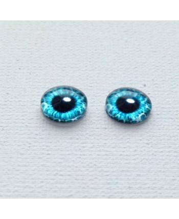 Глазки стеклянные для кукол и игрушек (пара), 14 мм (id:77851)