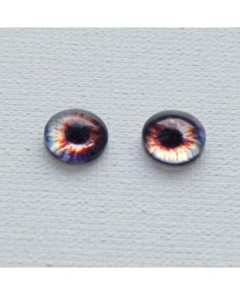 Глазки стеклянные для кукол и игрушек (пара), 14 мм (id:77858)