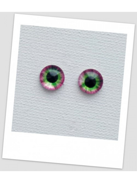 Глазки стеклянные для кукол и игрушек (пара), 8 мм (id:77033)