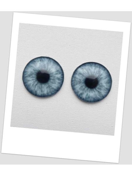 Глазки стеклянные для кукол и игрушек (пара), 30 мм (id:730094)