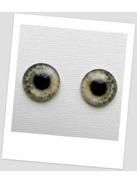 Глазки стеклянные для кукол и игрушек (пара), 16 мм (id:77417)