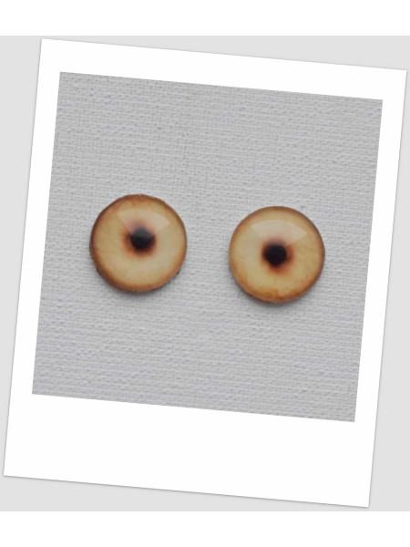 Глазки стеклянные для кукол и игрушек (пара), 14 мм (id:77381)