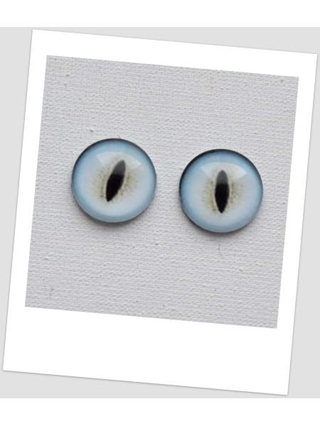 Глазки стеклянные для кукол и игрушек (пара), 14 мм (id:77371)