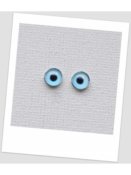 Глазки стеклянные для кукол и игрушек (пара), 6 мм (id:77393)