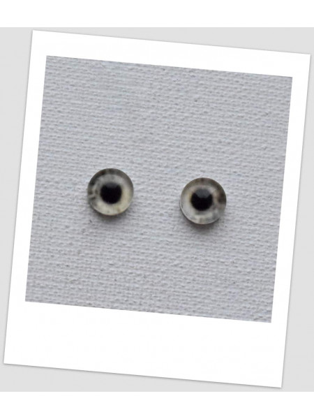 Глазки стеклянные для кукол и игрушек (пара), 8 мм (id:77437)
