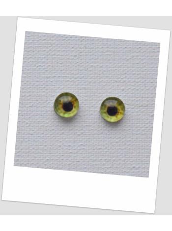 Глазки стеклянные для кукол и игрушек (пара), 6 мм