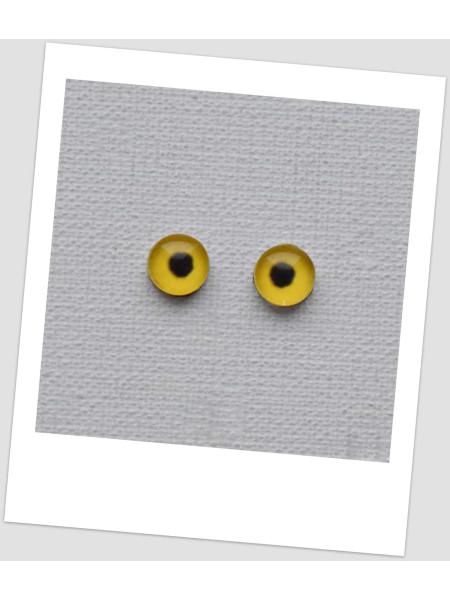 Глазки стеклянные для кукол и игрушек (пара), 8 мм (id:77436)