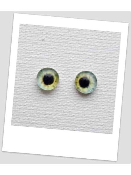 Глазки стеклянные для кукол и игрушек (пара), 6 мм (id:77394)