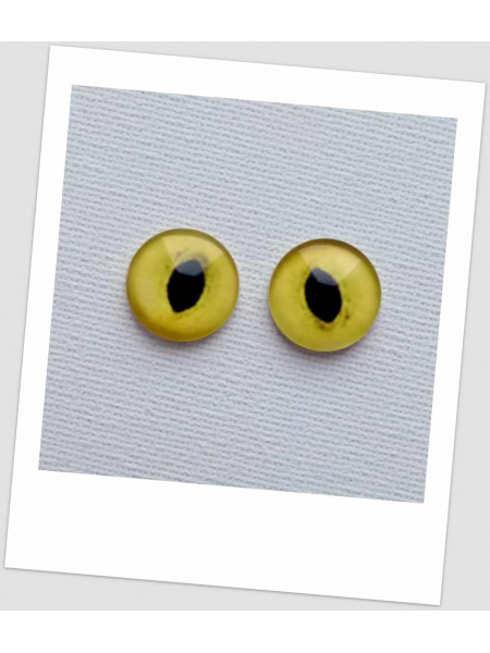 Глазки стеклянные для кукол и игрушек кошачьи (пара), 16 мм (id:77351)
