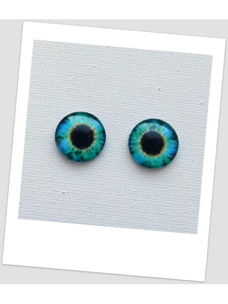 Глазки стеклянные для кукол и игрушек (пара), 14 мм (id:77564)