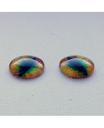Глазки стеклянные для кукол и игрушек (пара), 14 мм (id:77556)