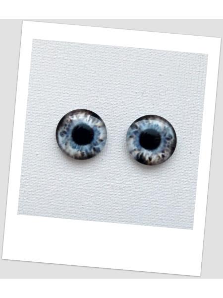 Глазки стеклянные для кукол и игрушек (пара), 14 мм (id:77560)