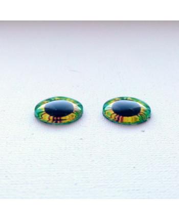 Глазки стеклянные для кукол и игрушек (пара), 14 мм (id:77553)