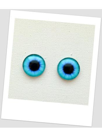 Глазки стеклянные для кукол и игрушек (пара), 14 мм