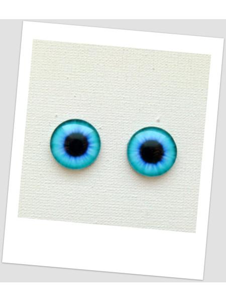 Глазки стеклянные для кукол и игрушек (пара), 14 мм (id:77557)