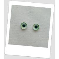 Глазки стеклянные для кукол и игрушек (пара), 6 мм (id:77517