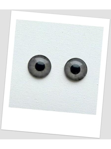 Глазки стеклянные для кукол и игрушек (пара), 14 мм (id:730260)