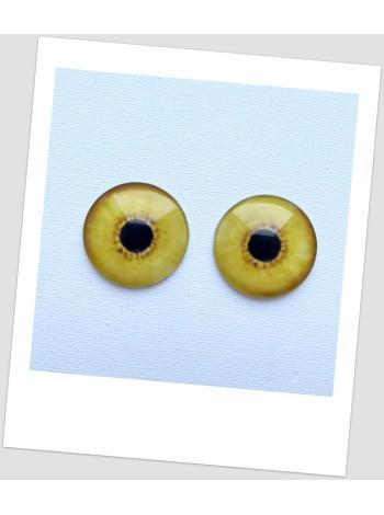 Глазки стеклянные для кукол и игрушек (пара), 30 мм