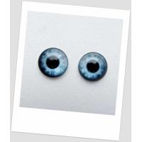 Глазки стеклянные для кукол и игрушек (пара), 20 мм (id:77932)
