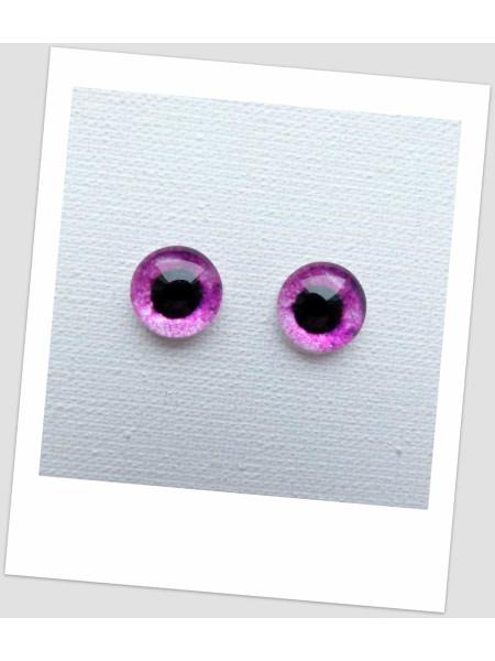 Глазки стеклянные для кукол и игрушек (пара), 8 мм (id:77915)