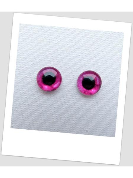 Глазки стеклянные для кукол и игрушек (пара), 8 мм (id:77914)