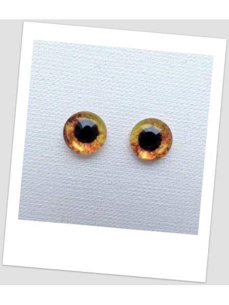 Глазки стеклянные для кукол и игрушек (пара), 8 мм (id:77902)