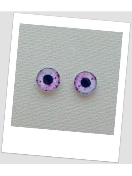 Глазки стеклянные для кукол и игрушек (пара), 8 мм (id:77899)