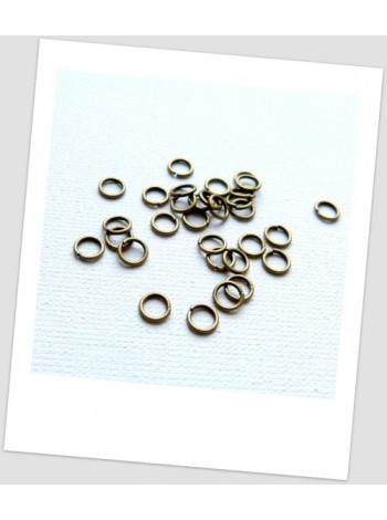Колечко соединительное  металлическое ,бронзового цвета 5 мм, 100 шт. в упаковке