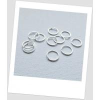 Колечко соединительное металлическое серебряного цвета 10 мм . Цена за упаковку - 40 шт. (id:670031)