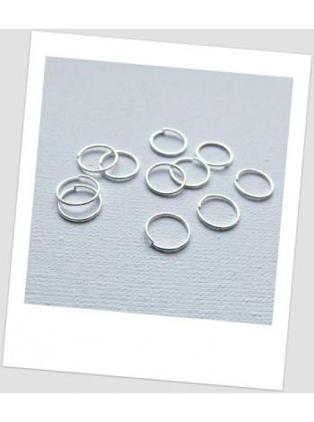 Колечко соединительное металлическое серебряного цвета 10 мм . Цена за упаковку - 40 шт.