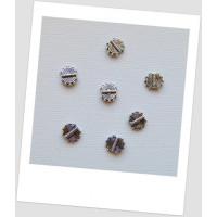 Коннектор для бижутерии, металлический, круглый, плоский, цвет сталь, 10x8.5 мм , упаковка - 20 шт. (id:310023)