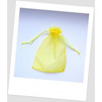 Мешочек из органзы 18 см х 13 см ярко-желтого цвета. (id:700053)