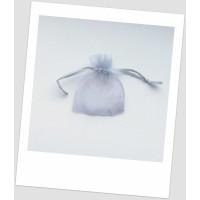 Мешочек из органзы ювелирный 7х 9 серый.