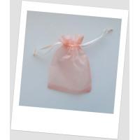 Мешочек из органзы  (12 х 9 см), персиковый (id:700050)