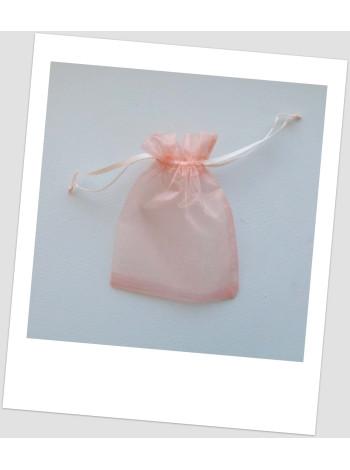 Мешочек из органзы  (13 х 18 см), персиковий