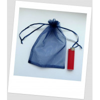 Мешочек из органзы  (13 х 18 см), темно-синий (navy) (id:700064)